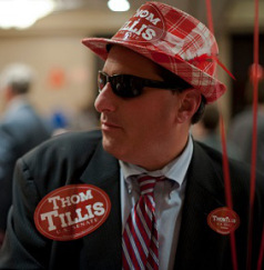 Republican Candidate For Senate Thom Tillis Attends His Election Night Gathering
