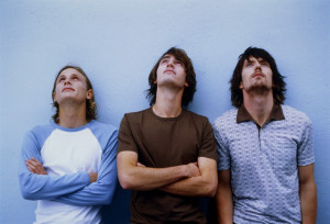 Three young men looking up