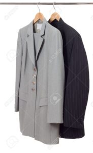8955985-suits-on-the-rack-isolated-on-white--Stock-Photo-hanger-clothes-suit