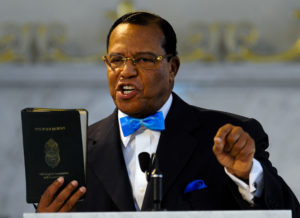 epa02663427 Nation of Islam leader the Reverend Louis Farrakhan holds his copy Koran as he speaks at an extended news conference where he condemned the US role in the situation in Libya and praised his associate Libyan leader Muammar Gaddafi at Mosque Maryam in Chicago, Illinois, USA 31 March 2011. Farrakhan expressed concern over the direction President Barack Obama is taking in dealing with the situation and called for the US and the United Nations to call for an immediate cease-fire. EPA/TANNEN MAURY