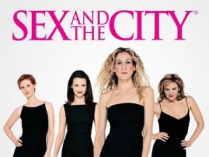Sex and the City TV series (1998-2004) starring Sarah Jessica Parker as Carrie Bradshaw, Kim Cattrall as Samantha Jones, Kristin Davis as Charlotte York and Cynthia Nixon as Miranda Hobbes - dvdbash.com